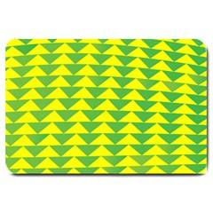 Arrow Triangle Green Yellow Large Doormat