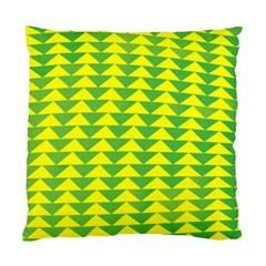 Arrow Triangle Green Yellow Standard Cushion Case (Two Sides)