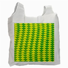 Arrow Triangle Green Yellow Recycle Bag (One Side)