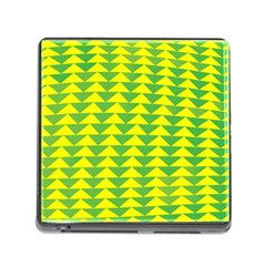 Arrow Triangle Green Yellow Memory Card Reader (Square)