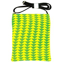 Arrow Triangle Green Yellow Shoulder Sling Bags