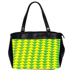 Arrow Triangle Green Yellow Office Handbags (2 Sides)