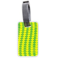 Arrow Triangle Green Yellow Luggage Tags (One Side)