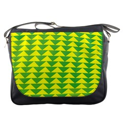Arrow Triangle Green Yellow Messenger Bags