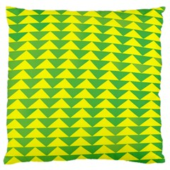 Arrow Triangle Green Yellow Large Cushion Case (Two Sides)