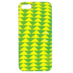 Arrow Triangle Green Yellow Apple iPhone 5 Hardshell Case with Stand