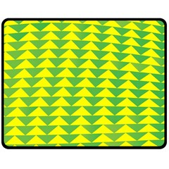 Arrow Triangle Green Yellow Double Sided Fleece Blanket (medium)