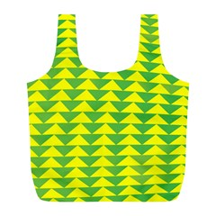 Arrow Triangle Green Yellow Full Print Recycle Bags (L)