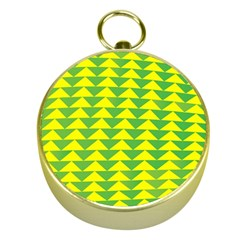 Arrow Triangle Green Yellow Gold Compasses
