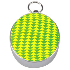 Arrow Triangle Green Yellow Silver Compasses