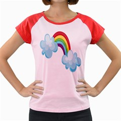 Could Rainbow Red Yellow Green Blue Purple Women s Cap Sleeve T-Shirt