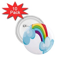 Could Rainbow Red Yellow Green Blue Purple 1.75  Buttons (10 pack)