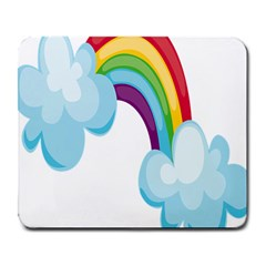 Could Rainbow Red Yellow Green Blue Purple Large Mousepads