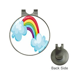 Could Rainbow Red Yellow Green Blue Purple Hat Clips with Golf Markers