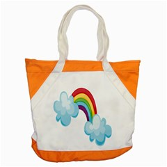 Could Rainbow Red Yellow Green Blue Purple Accent Tote Bag