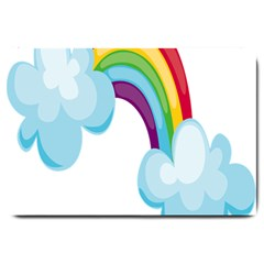 Could Rainbow Red Yellow Green Blue Purple Large Doormat
