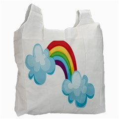 Could Rainbow Red Yellow Green Blue Purple Recycle Bag (Two Side)