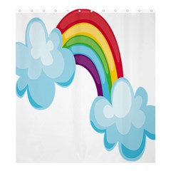 Could Rainbow Red Yellow Green Blue Purple Shower Curtain 66  x 72  (Large)
