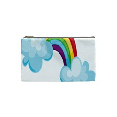 Could Rainbow Red Yellow Green Blue Purple Cosmetic Bag (Small)