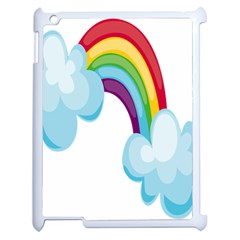 Could Rainbow Red Yellow Green Blue Purple Apple iPad 2 Case (White)