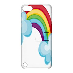 Could Rainbow Red Yellow Green Blue Purple Apple iPod Touch 5 Hardshell Case with Stand