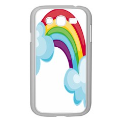 Could Rainbow Red Yellow Green Blue Purple Samsung Galaxy Grand DUOS I9082 Case (White)