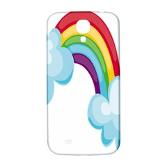 Could Rainbow Red Yellow Green Blue Purple Samsung Galaxy S4 I9500/I9505  Hardshell Back Case