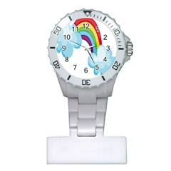 Could Rainbow Red Yellow Green Blue Purple Plastic Nurses Watch