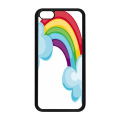 Could Rainbow Red Yellow Green Blue Purple Apple iPhone 5C Seamless Case (Black)
