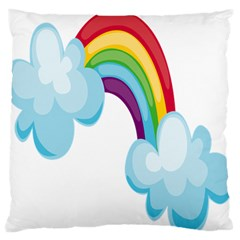Could Rainbow Red Yellow Green Blue Purple Standard Flano Cushion Case (Two Sides)
