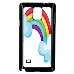 Could Rainbow Red Yellow Green Blue Purple Samsung Galaxy Note 4 Case (Black)