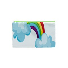 Could Rainbow Red Yellow Green Blue Purple Cosmetic Bag (XS)