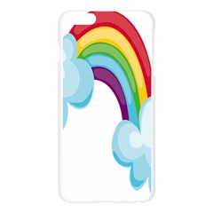 Could Rainbow Red Yellow Green Blue Purple Apple Seamless iPhone 6 Plus/6S Plus Case (Transparent)