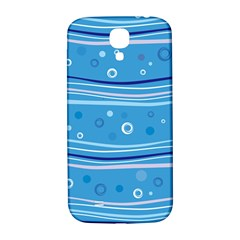 Blue Circle Line Waves Samsung Galaxy S4 I9500/I9505  Hardshell Back Case