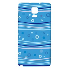 Blue Circle Line Waves Galaxy Note 4 Back Case