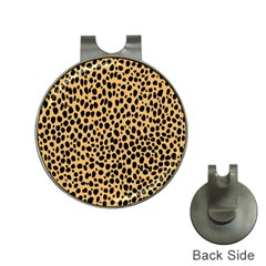 Cheetah Skin Spor Polka Dot Brown Black Dalmantion Hat Clips with Golf Markers