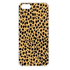 Cheetah Skin Spor Polka Dot Brown Black Dalmantion Apple iPhone 5 Seamless Case (White)