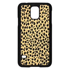 Cheetah Skin Spor Polka Dot Brown Black Dalmantion Samsung Galaxy S5 Case (Black)