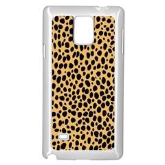 Cheetah Skin Spor Polka Dot Brown Black Dalmantion Samsung Galaxy Note 4 Case (White)