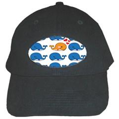 Fish Animals Whale Blue Orange Love Black Cap