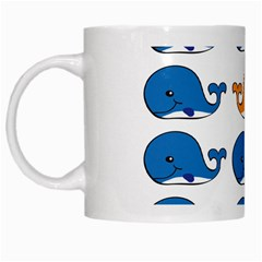 Fish Animals Whale Blue Orange Love White Mugs