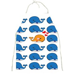Fish Animals Whale Blue Orange Love Full Print Aprons