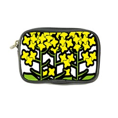 Flower Floral Sakura Yellow Green Leaf Coin Purse