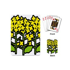 Flower Floral Sakura Yellow Green Leaf Playing Cards (Mini)