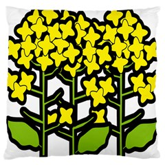 Flower Floral Sakura Yellow Green Leaf Large Cushion Case (One Side)