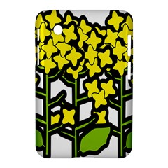 Flower Floral Sakura Yellow Green Leaf Samsung Galaxy Tab 2 (7 ) P3100 Hardshell Case
