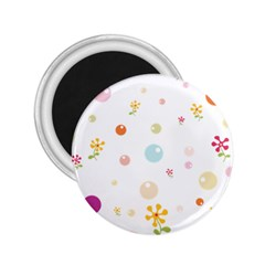 Flower Floral Star Balloon Bubble 2.25  Magnets