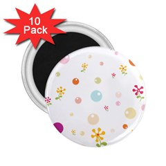 Flower Floral Star Balloon Bubble 2.25  Magnets (10 pack)