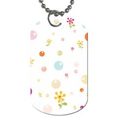 Flower Floral Star Balloon Bubble Dog Tag (One Side)