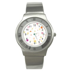 Flower Floral Star Balloon Bubble Stainless Steel Watch